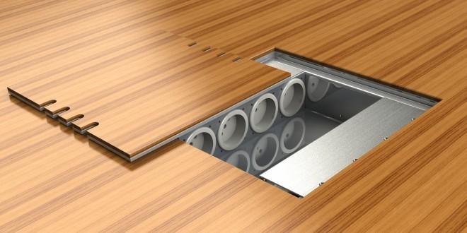 Podlahové zásuvky: jak se zbavit zbytečných kabelů