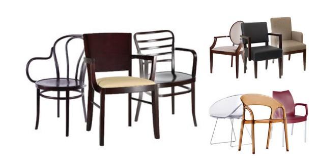 objekta dřevěné židle do restaurace