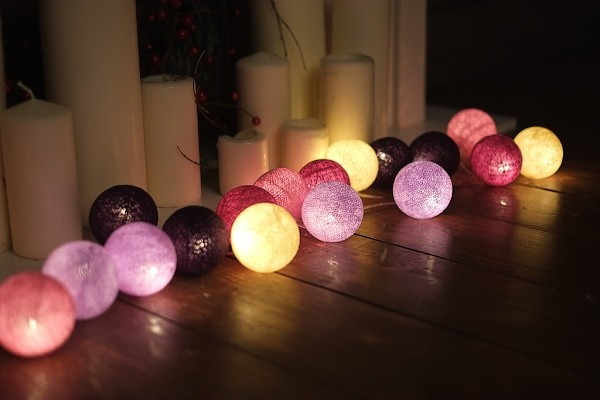 svítidla cotton balls
