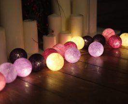 Designová světla CottonBalls nejen na vánoční stromeček