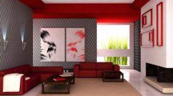 Červená barva v interiéru je trendy
