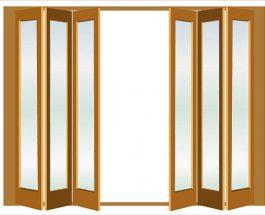 Shrnovací dveře do bytu